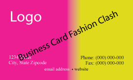 Business Card Fashion Clash